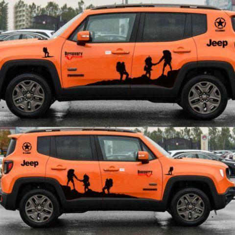 Graphic Snow Mountain Bonnet Car Sticker 4X4 Sports Rear Decal For Suzuki Jimny