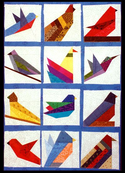 Quilt patterns, paper piecing patterns, applique quilting; country and Americana quilter designs :: Birds