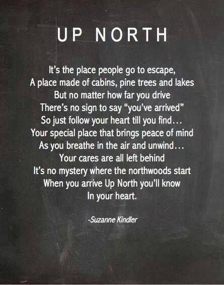 Up North Poem Thanks To My Buddy Dana For Sharing Misc