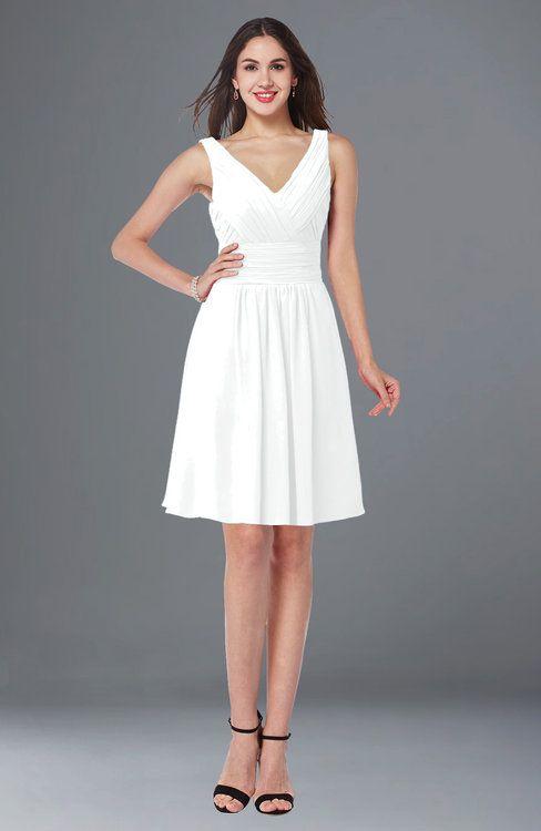 Short Bridesmaid Dresses White White Bridesmaid Dresses White Bridesmaid Dresses Short White Knee Length Dress