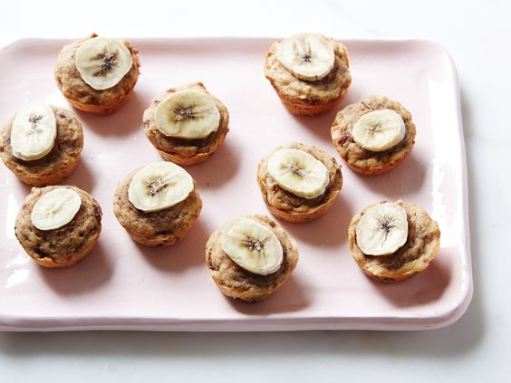 Sweeten your muffins naturally with fruit! These Mini Banana Muffins have no added sugar but are sweet as can be!