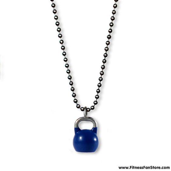 Fitness Fan Store - Kettlebell Jewelry, Competition Blue, $24.95 (http://www.fitnessfanstore.com/kettlebell-jewelry-blue/)