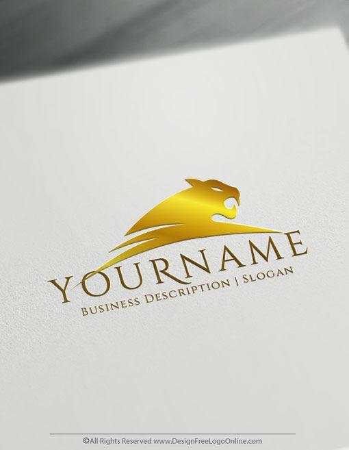 Online Jaguar Logo Design Create A Panther Logo For Free Online Logo Logo Design Logo Design Free