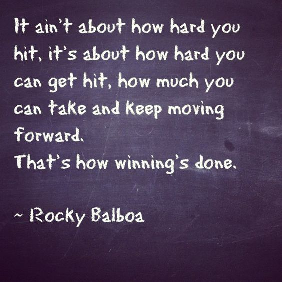 Rocky Balboa Life Is Hard Quote: That's How Winning Is Done. Rocky Balboa Quote