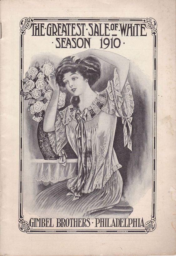 GIMBEL BROTHERS PHILADELPHIA ANTIQUE WOMEN'S GIRLS CLOTHING SALES CATALOG 1910