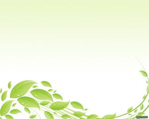 Free green leaves PowerPoint template for nature presentations ...