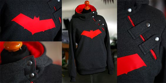 Superhero Hoodies by envylicious ------ she does SUCH AMAZING HOODIES I am so jealous; her Kid Flash one is INSANE