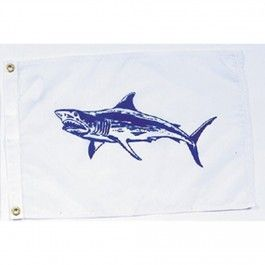 Nyl-Glo Mako Shark Flag-12 in. X 18 in. http://www.pacificcoastflag.com/product-type/sports-recreation-leisure-boating-fishing-auto-racing/12-in-x-18-in-nyl-glo-mako-shark-flag.html