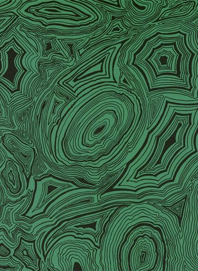 Malachite - Designtapete v. Cole and Son - Grün/ Schwarz