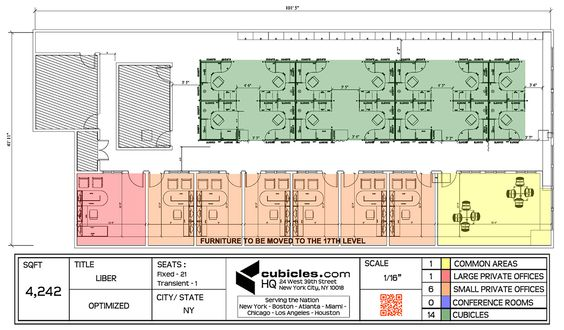 Office layout plan for 4 242 square footage in new york for Unique office layouts