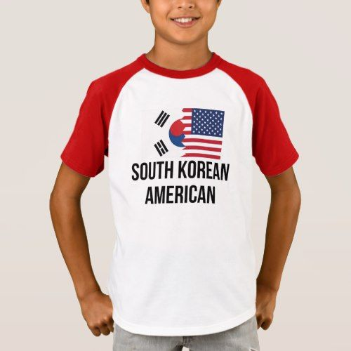 South Korean American Flag T Shirt Zazzle Com American Flag Tshirt Korean American South Korea Flag