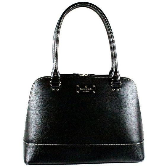 Kate Spade New York Wellesley Rachelle Shoulder Handbag Black Leather WKRU1431 found on Polyvore