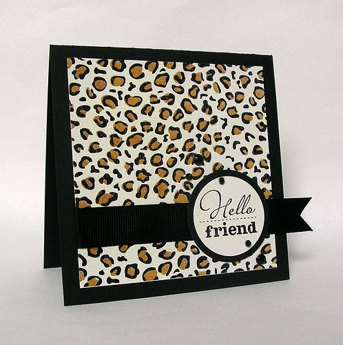 love how the animal print takes a very simple card and makes it looks amazing: