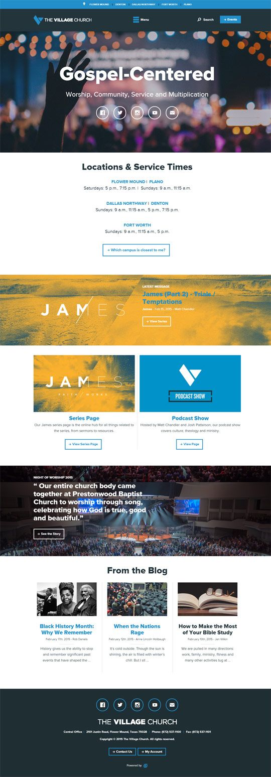 50 great church websites of 2015 churchrelevancecom web design pinterest student centered resources church and web design