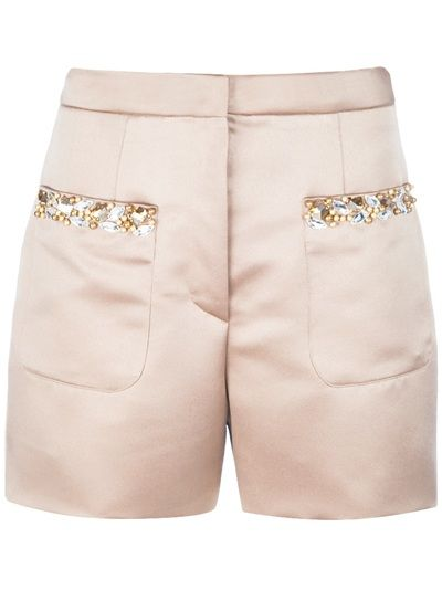 THE BOX BOUTIQUE Shorts Nude.