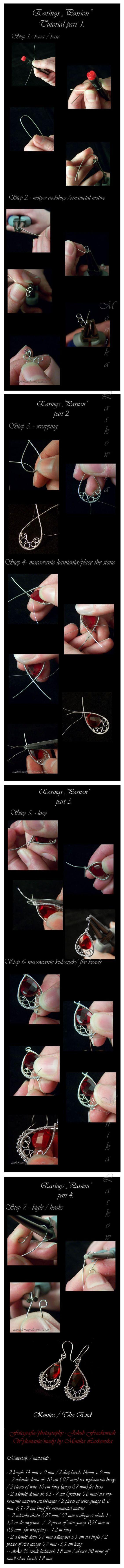 как сделать сережки из проволоки