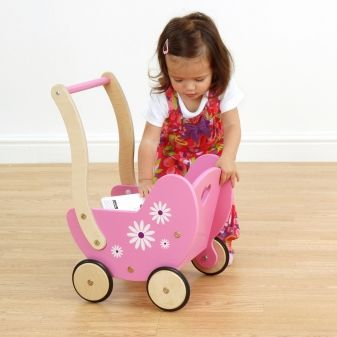 Daisy Dolls Pram - available direct from KidsPlayKit with Free Next Day Delivery! Come take a look at our wide range of UK made wooden toys!
