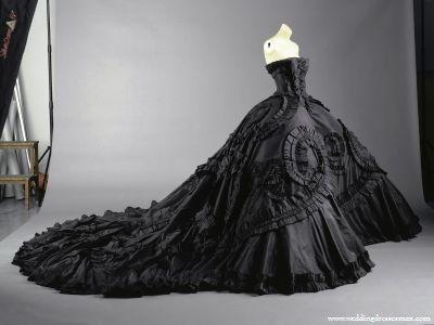 Victorian Wedding Gown on Black Wedding Dress Wedding Dresses Max ...