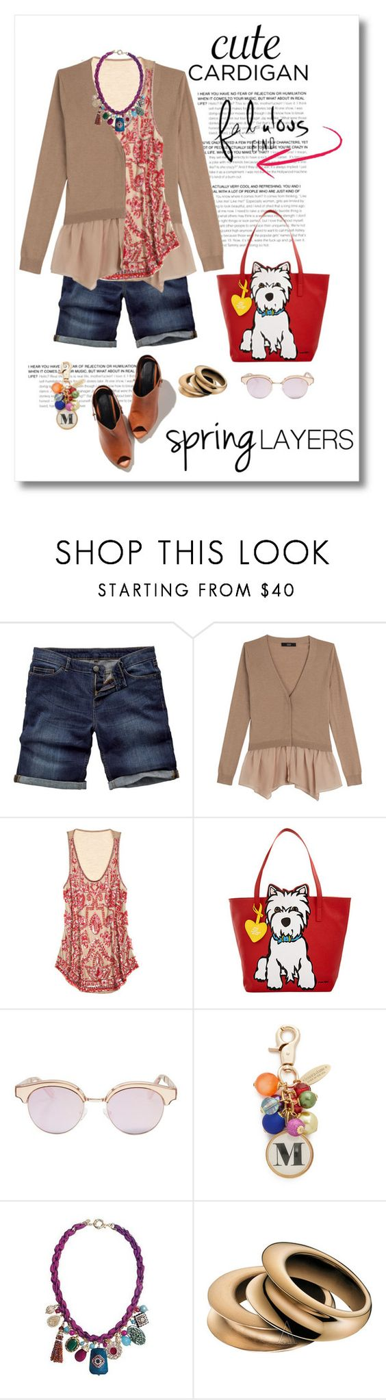 """""""Cute Spring Cardis"""" by mellapr ❤ liked on Polyvore featuring Fat Face, Steffen Schraut, Calypso St. Barth, Marc Tetro, Le Specs, Lenora Dame, Calvin Klein, cutecardigan and springlayers"""