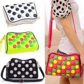Korea Stylish Casual Women's Candy Color Cross-body Clutch Handbag 4 Colors