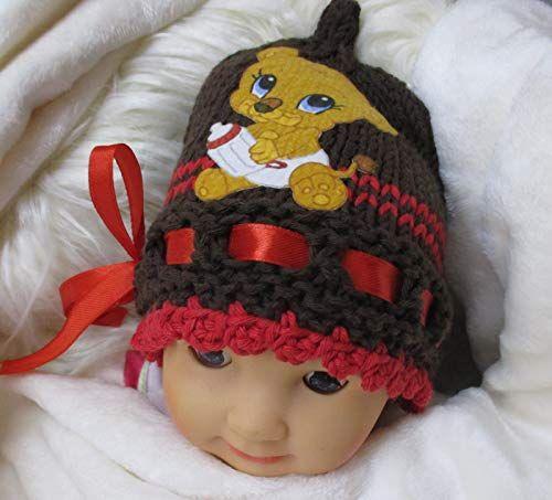 40-43 cm Gestrickte Babymütze Neugeborenenmütze Gutes für die Erde tun ♥ KU