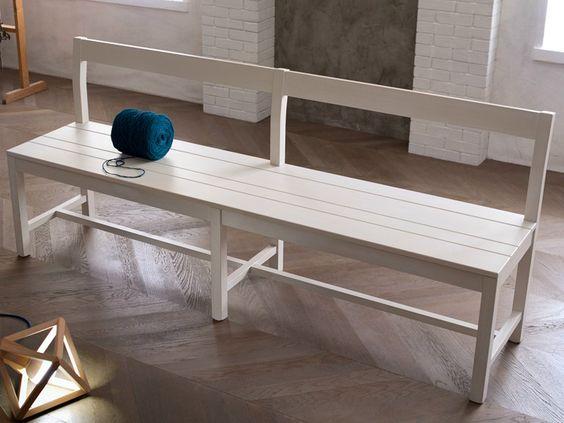 panca in legno con schienale panca by callesella arredamenti case