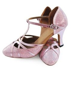 Customized Sparkling Glitter And Leatherette With Buckle Dance Shoes (053008212)