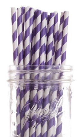 Dress My Cupcake Purple Striped Paper Straws, 100-Pack by Dress My Cupcake. $32.00. Our paper drinking straws are long-lasting, strong and durable, making them great for birthdays, weddings, picnics and much more. FDA approved. Made from all natural material with food grade ink. These paper straws are 100-percent biodegradable. Pack of 100 Retro Purple Striped Drinking Straws (7-3/4-inch long)-Great for any occasion. Dress My Cupcake is the world's largest manufacturer of design...