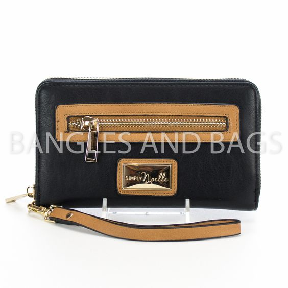 Simply Noelle Classic Wallet Zippered - Black