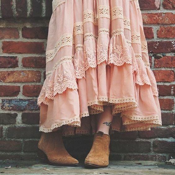 can't get over the ethereal details on the dreamy, vintage-inspired #spelldesigns Prairie sundress! [slighty sheer, intricate lace straps,