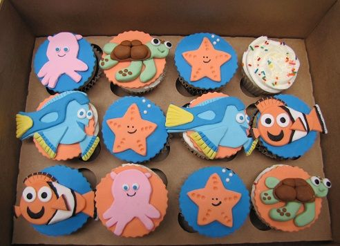 Finding Nemo Character Cupcakes=cutest cupcakes ever