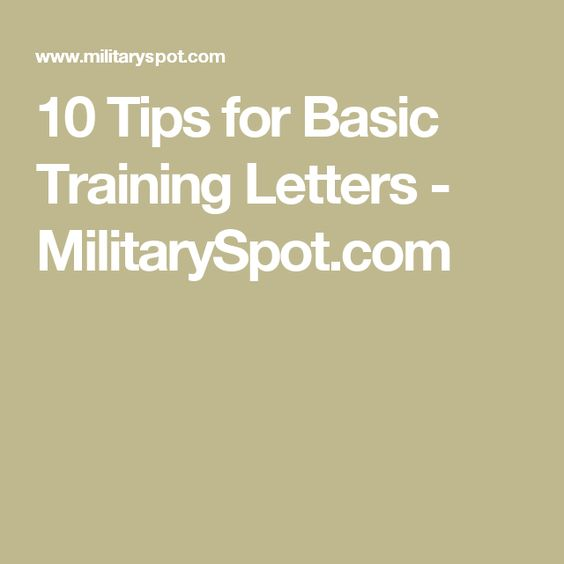 follow these tips for sending letters to your soldier during basic training