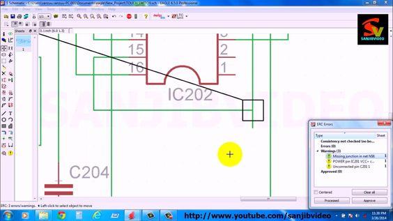 EAGLE # 6 of 12  CHECK / FIX ERC ERROR  How To Design Circuit