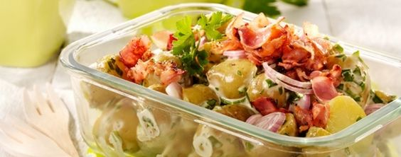 Aardappelsalade met krokant spek.