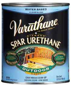 Rustoleum Varathane Water Based Outdoor Spar Urethane. Use this as a final topcoat after painting tile. It will seal the paint thoroughly, and also give it a tile-like shiny finish!