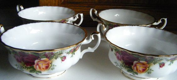 Old Country Roses Soup Bowls Set of four //Royal Doulton dated 1962 ...