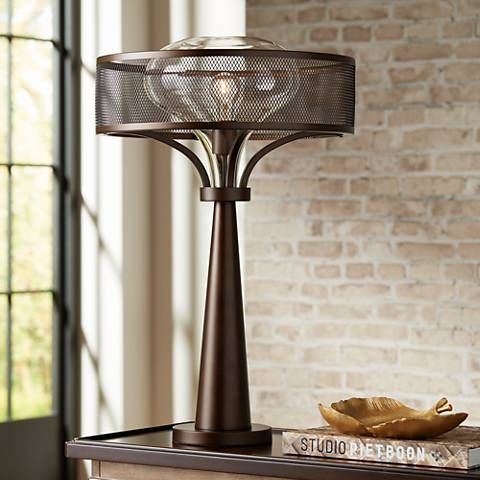 Possini Euro Design Luis Oil Rubbed Bronze Metal Table Lamp 37p06 Lamps Plus Metal Table Lamps Possini Euro Design Lamp