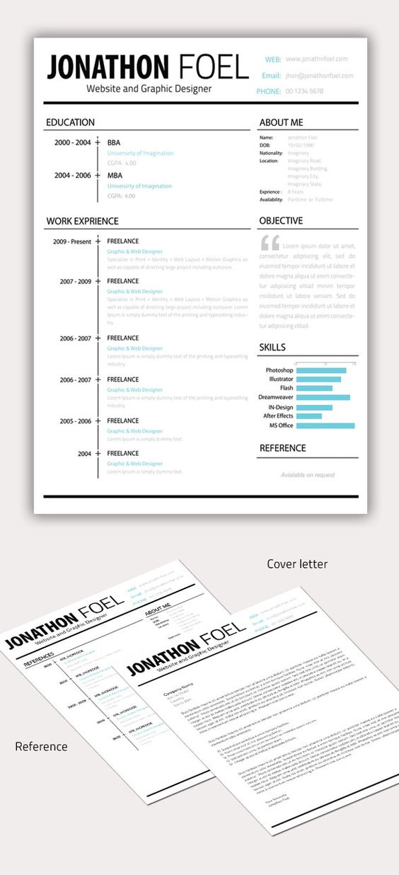 resume  graphic resume and resume design on pinterest
