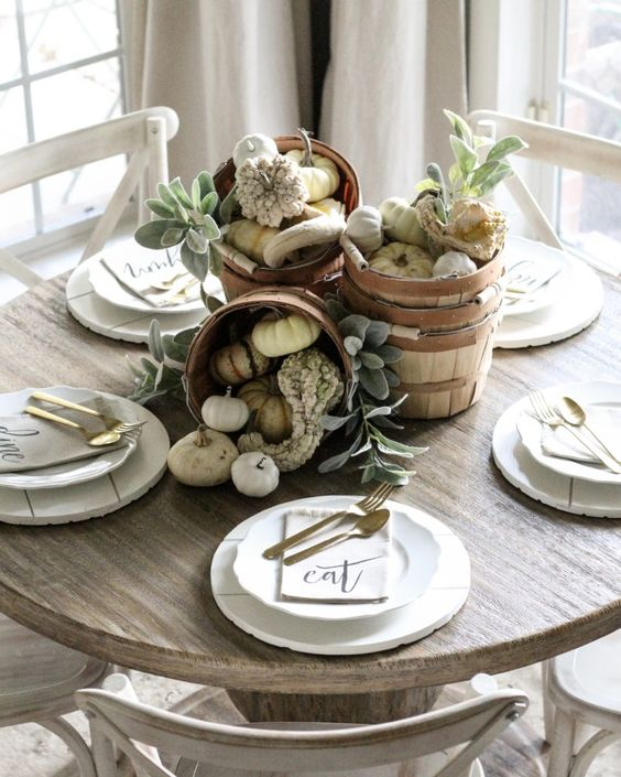 CottonStem.com fall farmhouse table decor on a budget