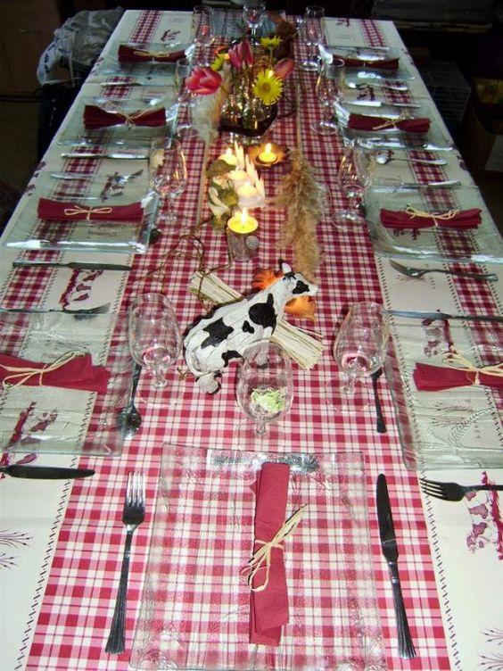 Décoration 50ème anniversaire de mariage. Thème la ferme (Forum décoration de tables et de salles) - Recette de cuisine du forum de Supertoinette