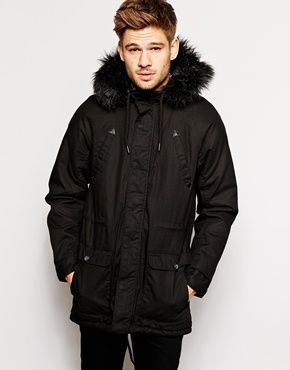 River Island Parka Jacket with Faux Fur Trim | pur(chase) these ...