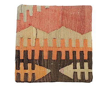 Funda de cojín kilim de lana y algodón Aquilah - 40x40 cm