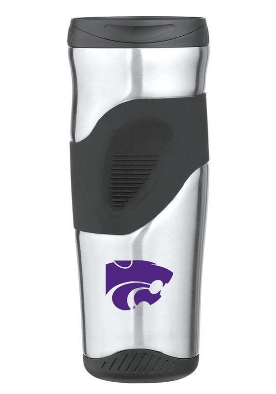Kansas State Wildcats 16 oz Black and Silver Travel Tumbler  http://www.rallyhouse.com/college/k-state-wildcats/a/gifts/b/home/c/drinkware?utm_source=pinterest&utm_medium=social&utm_campaign=Pinterest-KSUWildcats  $24.99
