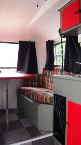 Semi blue plaid boler dinette All about Bolers