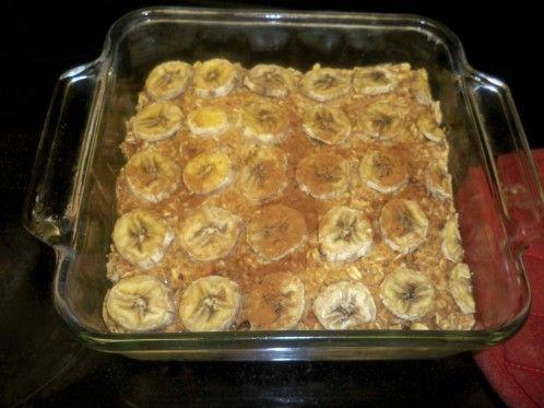 RAISING HEALTHY KIDS * Sugar Free baked banana oatmeal