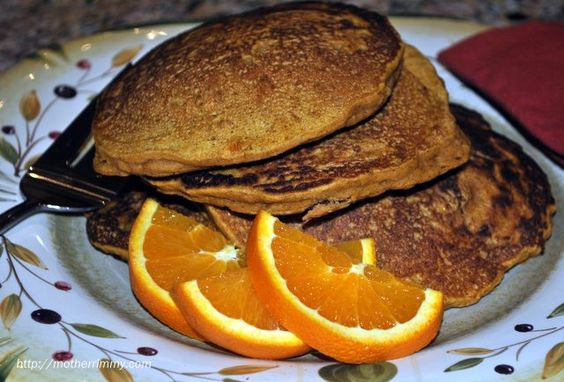 Pumpkin and Oat Pancakes from Mother Rimmy