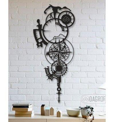 Compass Designed Mechanical Shaped Decorative Metal Table Wall Art Metal Wall Art Decor Metal Decor Eagle Metal Wall Art