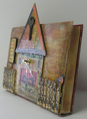 A Clock Made From A Book - PAPER CRAFTS, SCRAPBOOKING & ATCs (ARTIST TRADING CARDS)
