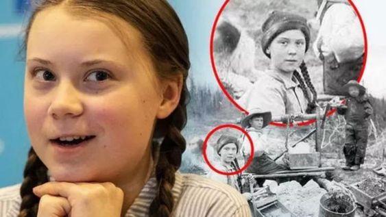 'Greta Thunberg' gespot op 120-jarige foto | Disclose.tv