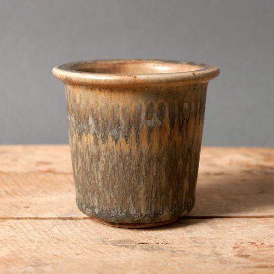 gunnar nylund vase cup brown nylund denmark mid by northvintage